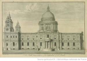 The South Prospect of the Cathedral of St. Pauls / gallica.bnf.fr/Bibliotheque nationale de France / Public Domain